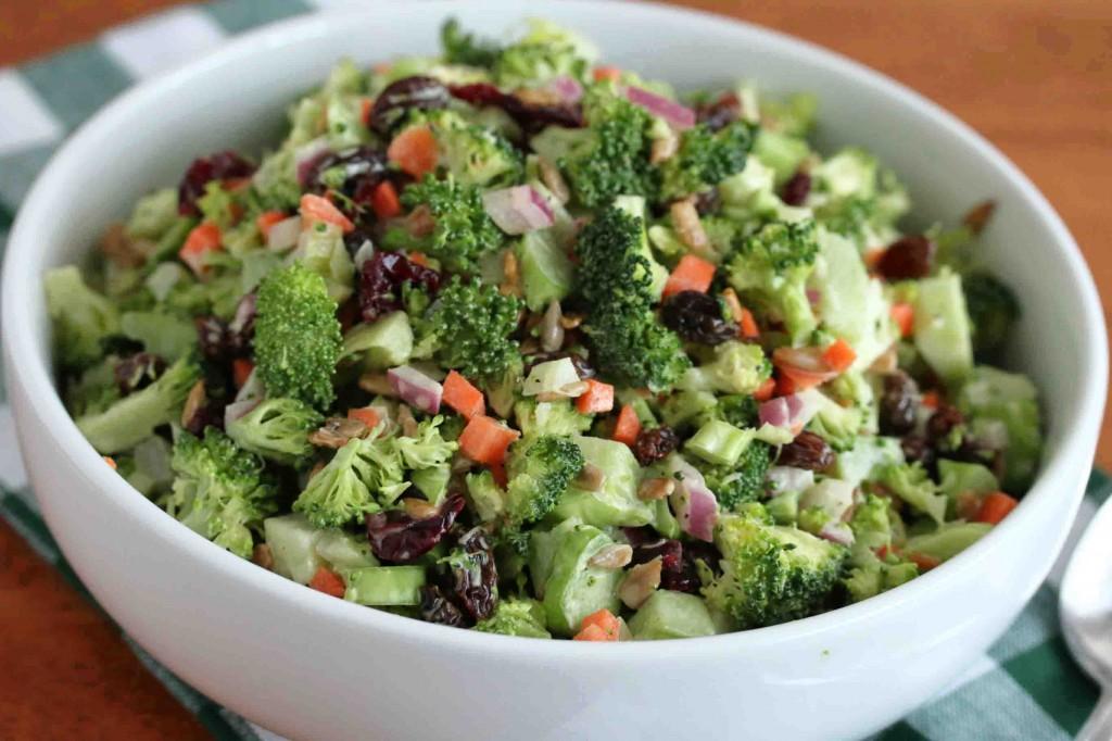 creamy broccoli salad recipe raisins cranberries nuts sunflower seeds