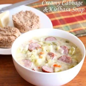 creamy cabbage kielbasa sausage soup recipe