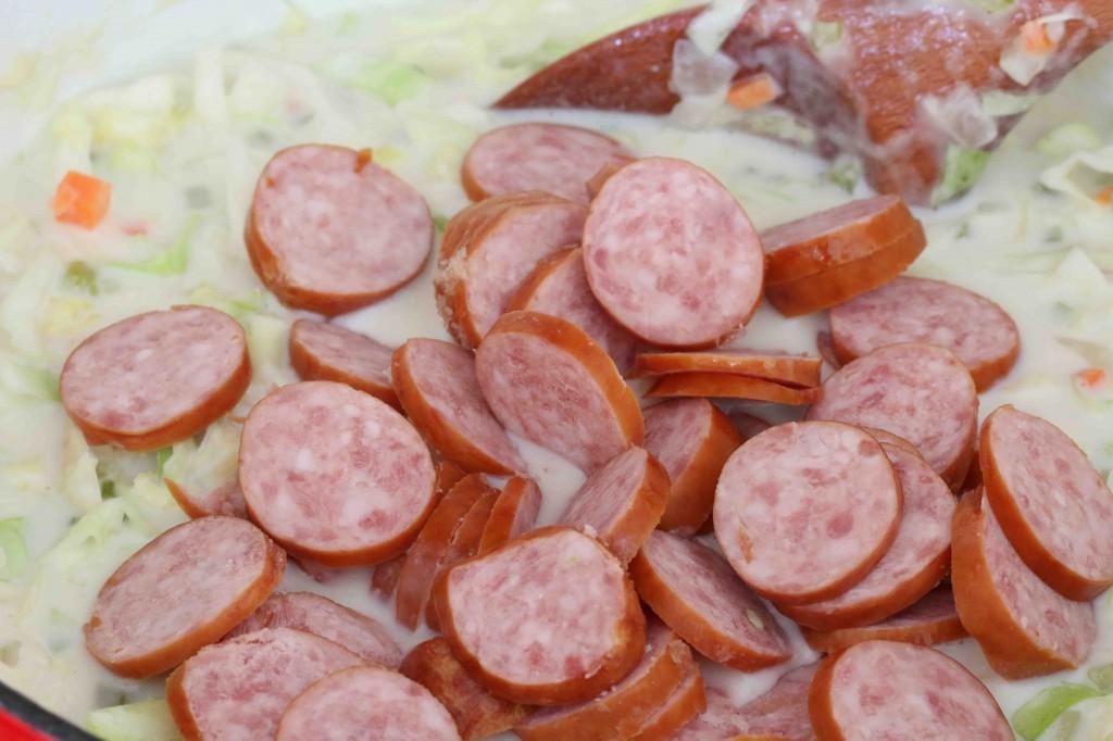 Cabbage Kielbasa Soup prep 5