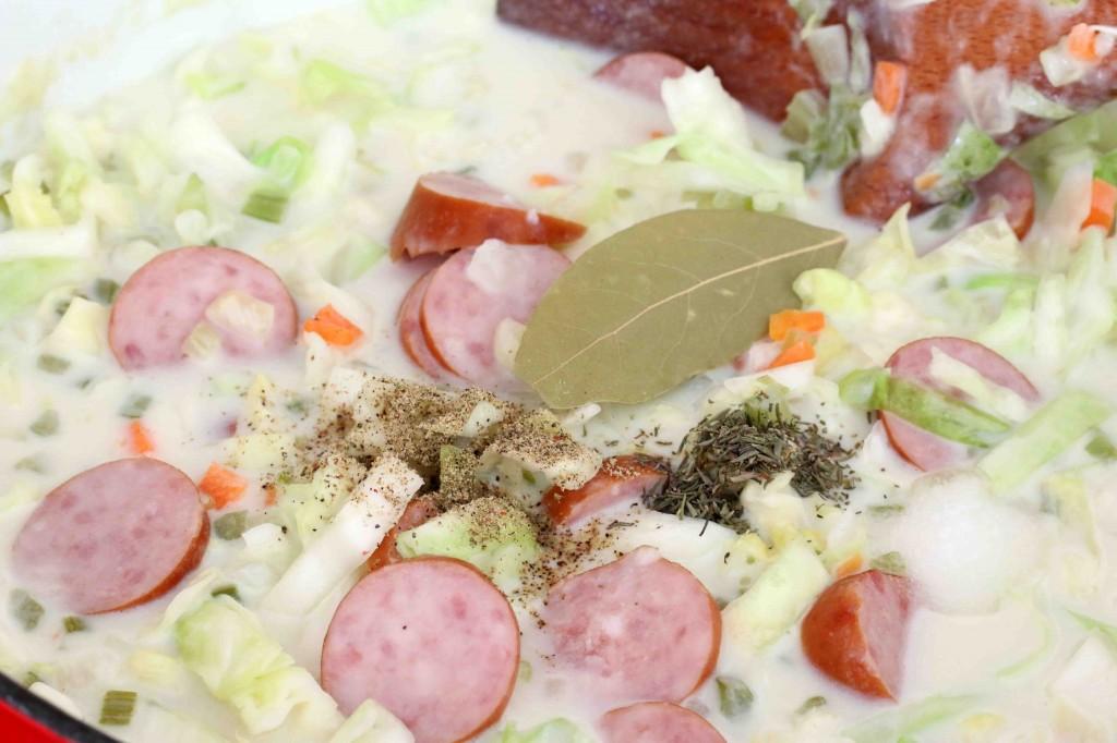 Cabbage Kielbasa Soup prep 6