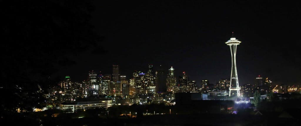 seattle skyline night daring gourmet