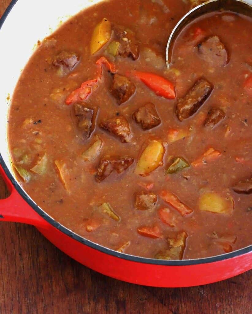 beef pepper stew recipe bell peppers onions