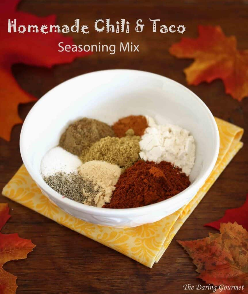 Homemade Chili Taco Seasoning Mix The Daring Gourmet