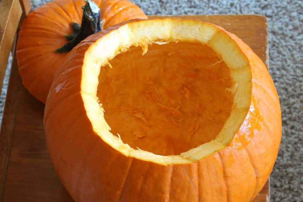 Chili in a Pumpkin prep 2