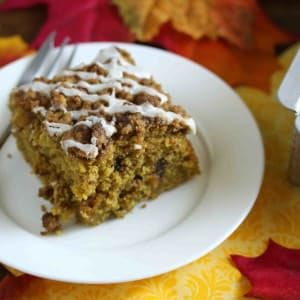 Chocolate Butterscotch Pumpkin Streusel Cake