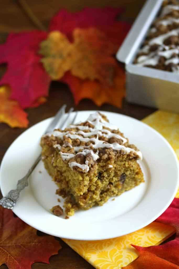 chocolate butterscotch pumpkin streusel crumb cake recipe dessert holiday baking fall autumn christmas thanksgiving halloween