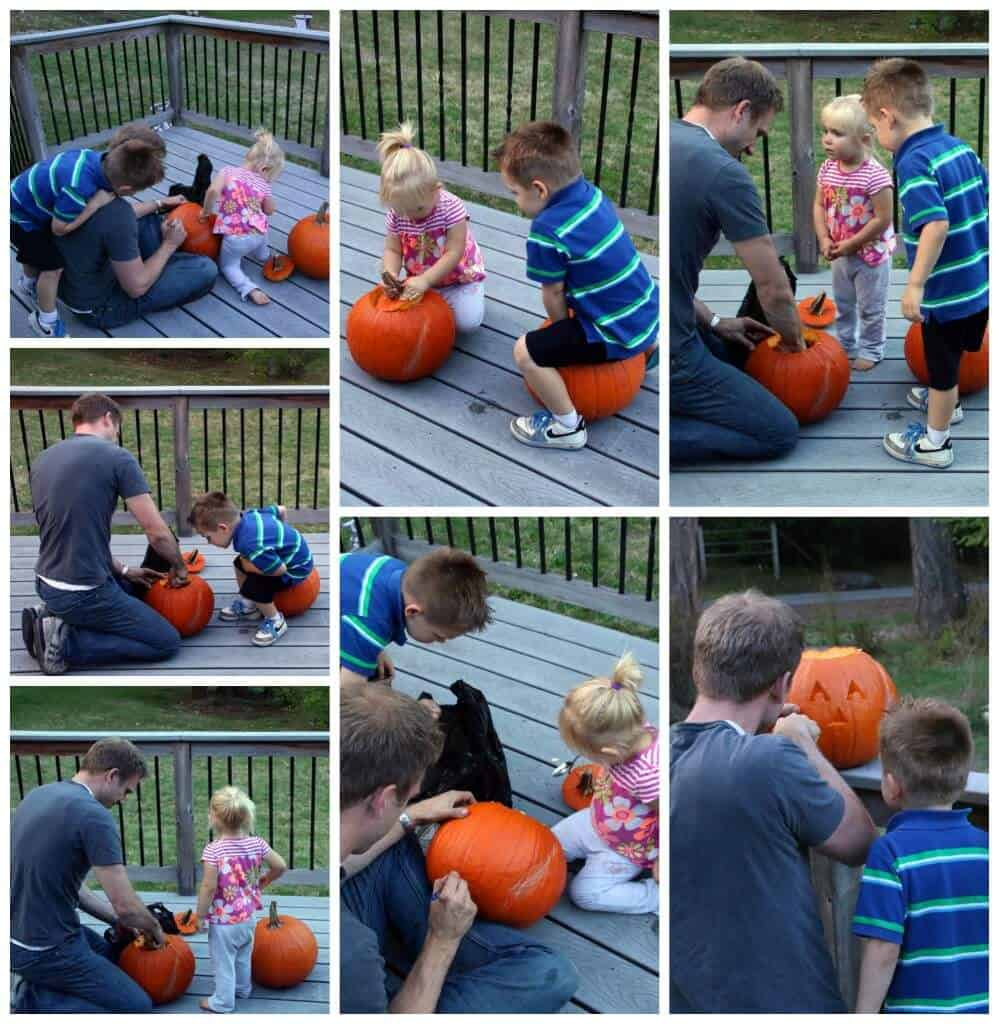 Pumpkin Carving Collage 1