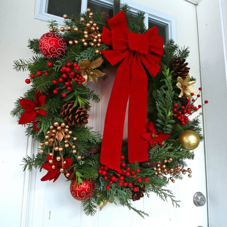 "How To Make a ""Gourmet"" Homemade Christmas Wreath & Simple Advent"