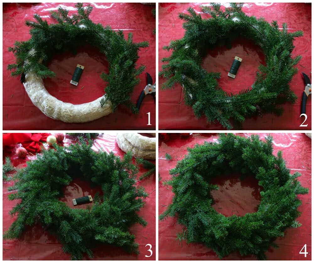 christmas wreath collage 1 web edited - How To Make A Christmas Wreath