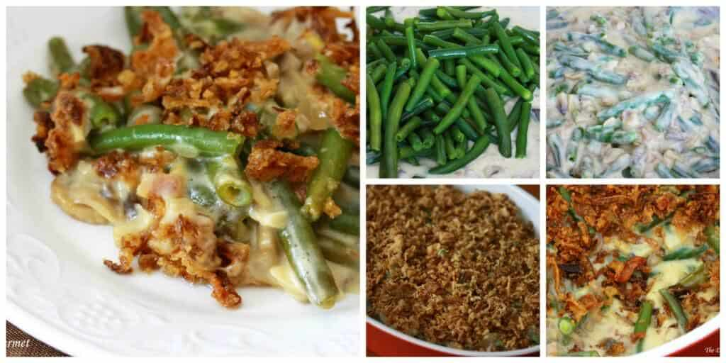 ultimate best green bean casserole from scratch mushrooms bacon cheese recipe