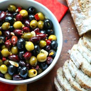 marinated olives recipe marinade homemade easy entertaining gifts