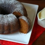 Pumpkin Eggnog Cake with Eggnog Custard Sauce