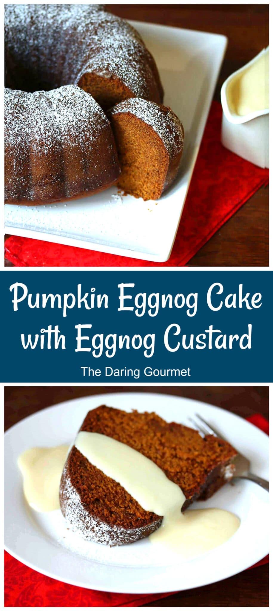 pumpkin eggnog cake recipe custard sauce