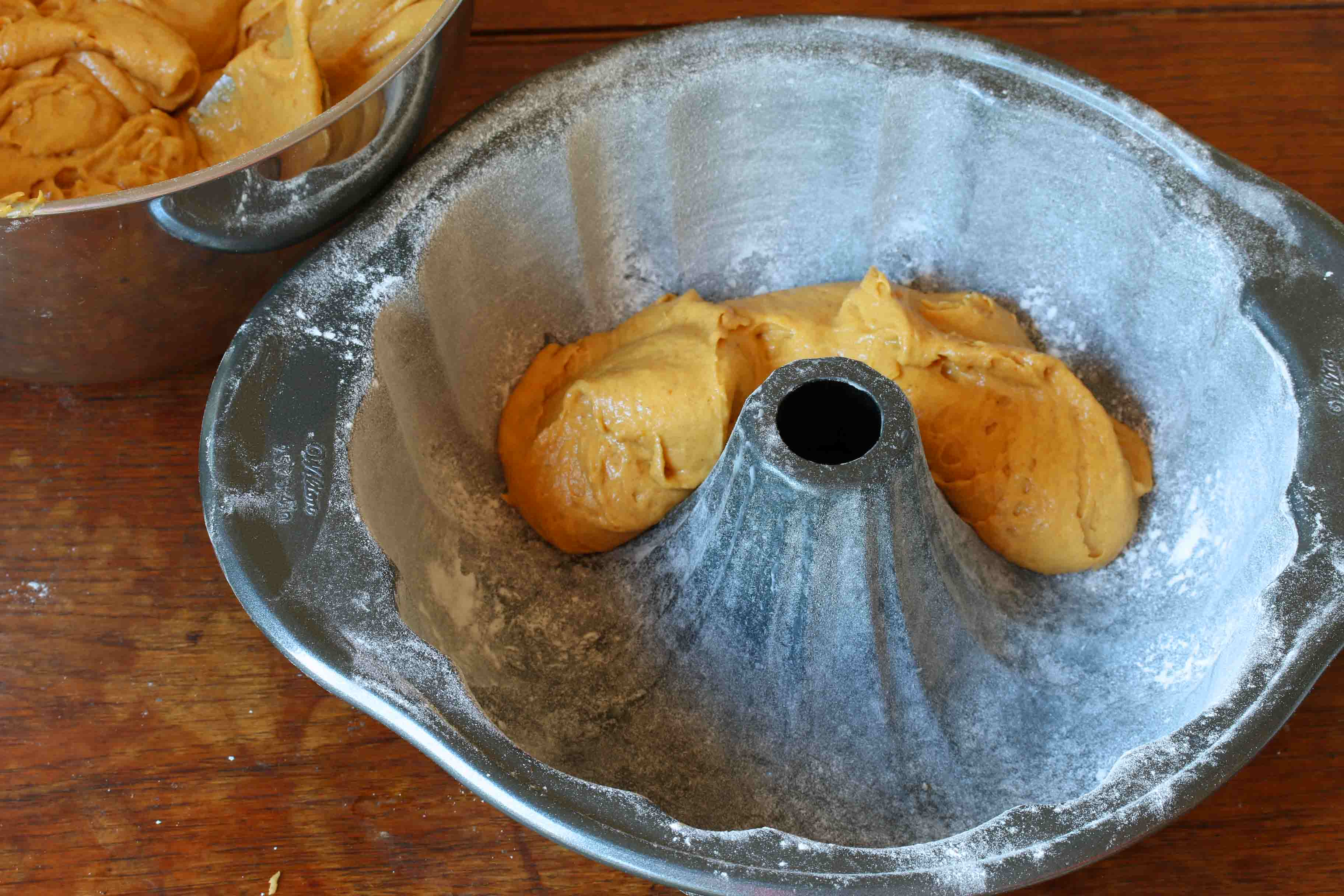 Pumpkin Eggnog Cake prep 12