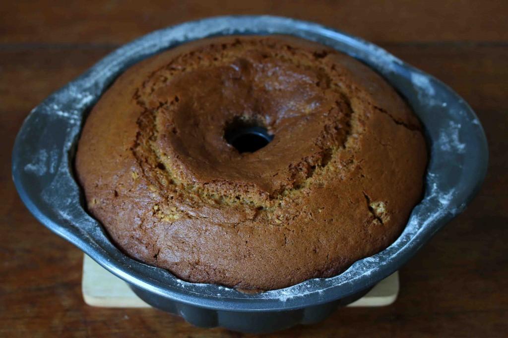 Pumpkin Eggnog Cake prep 21