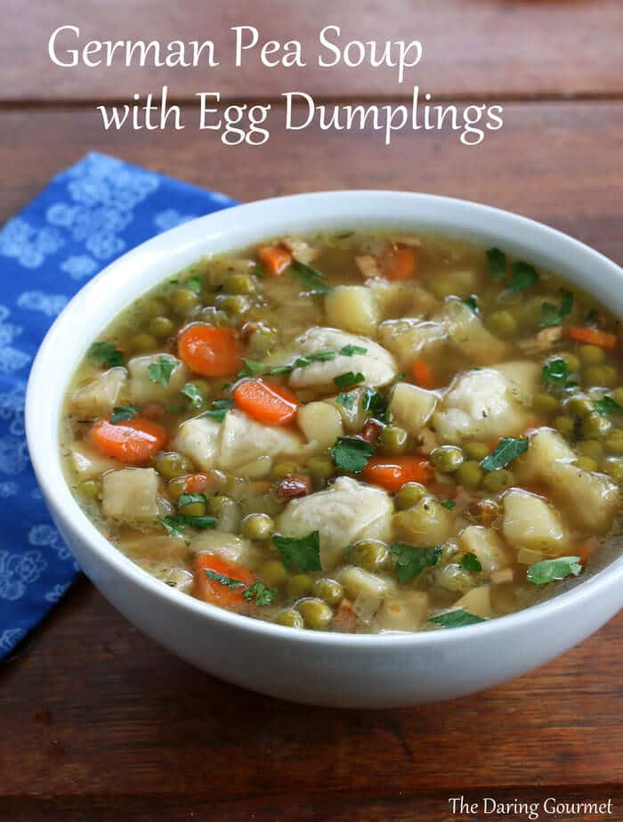 german pea soup dumplings recipe erbsensuppe