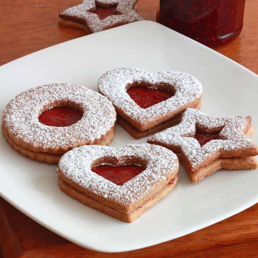 Linzer Cookies Linzerkekse