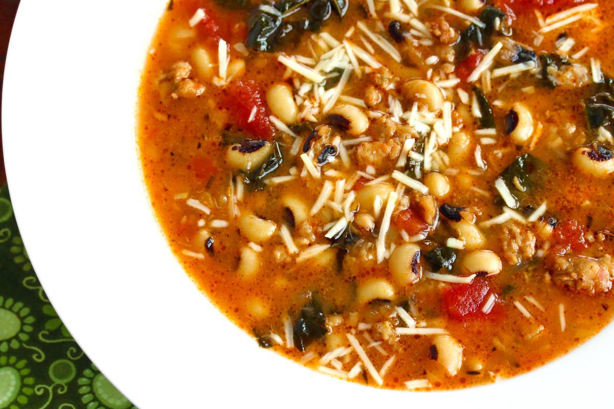 sausage kale black eyed pea soup recipe southern healthy gluten free