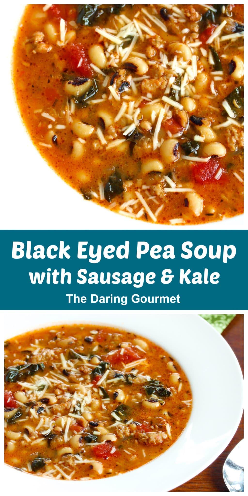 black eyed peas soup recipe sausage kale
