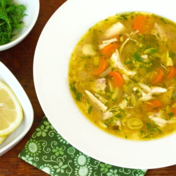 chicken orzo soup recipe lemon dill herbs slow cooker