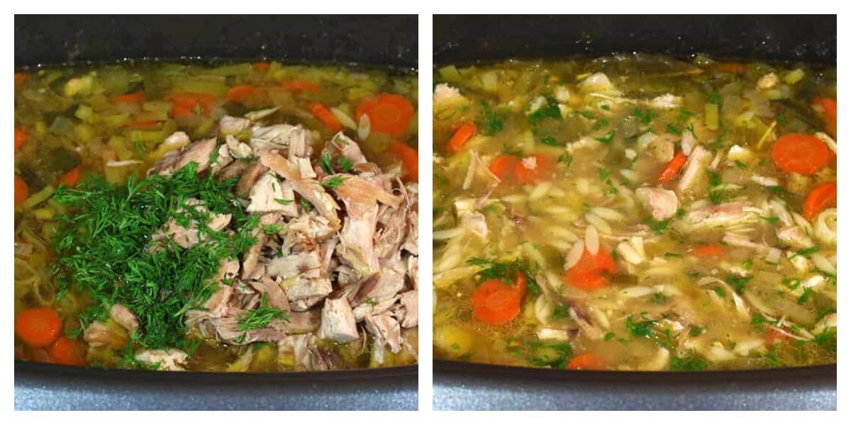 add dill and chicken to slow cooker