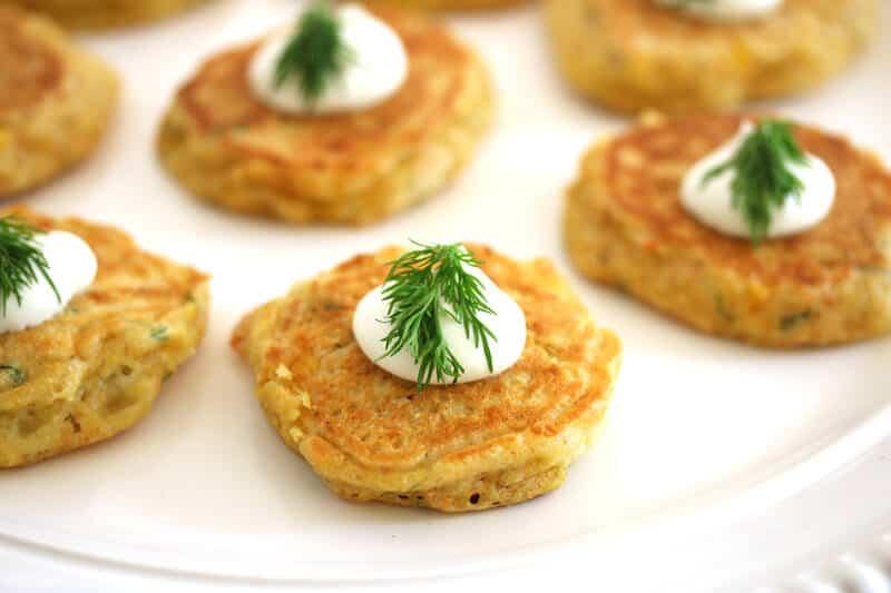 havarti dill corn cakes recipe