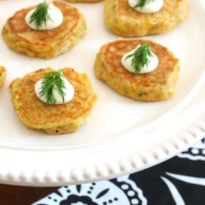 Havarti Dill Corn Cakes