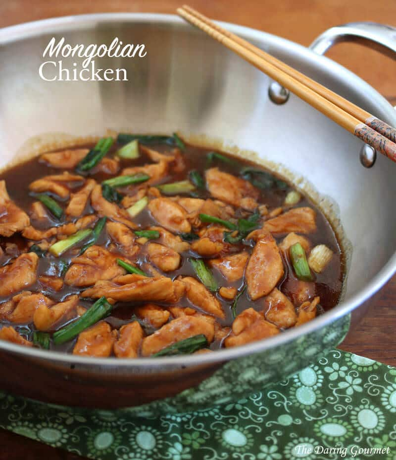 Mongolian chicken the daring gourmet mongolian chicken recipe easy fast takeout green onions hoisin sauce forumfinder