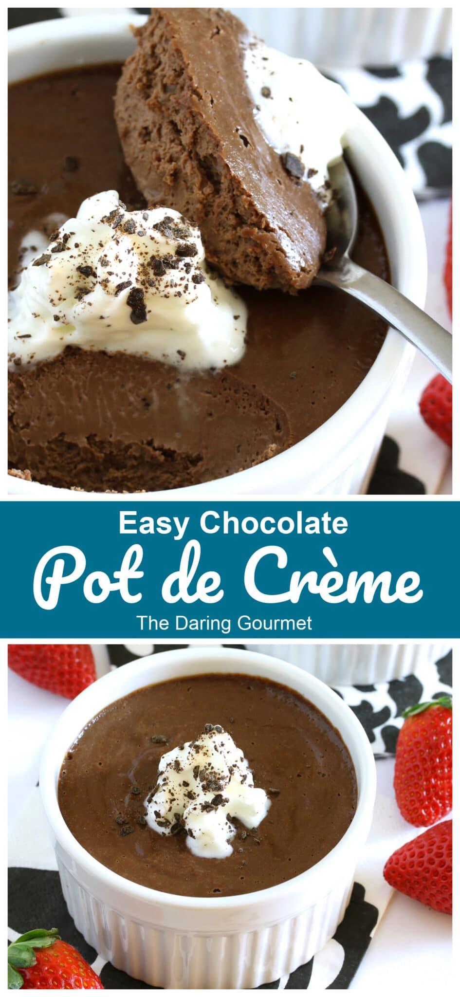 pot de creme recipe easy chocolate fast French dessert