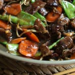 Beef Stir-fry with Snow Peas and Mushrooms