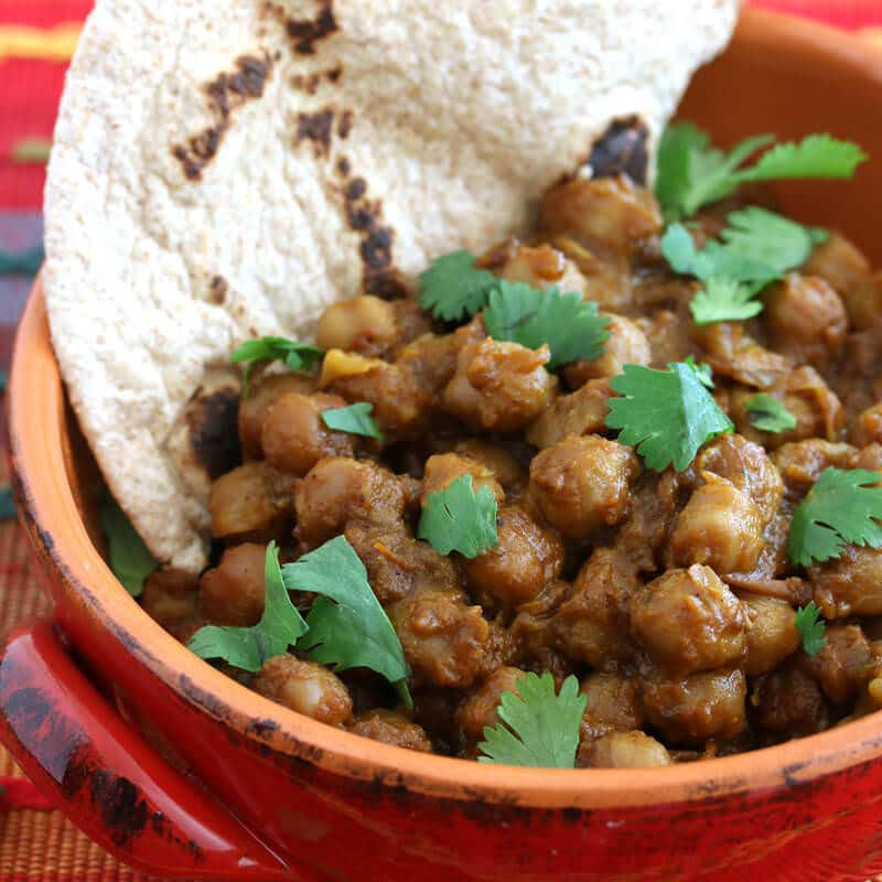 roasted chickpea curry recipe garbanzo beans vegetarian vegan gluten free