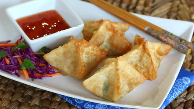 goat cheese spinach bacon wontons recipe