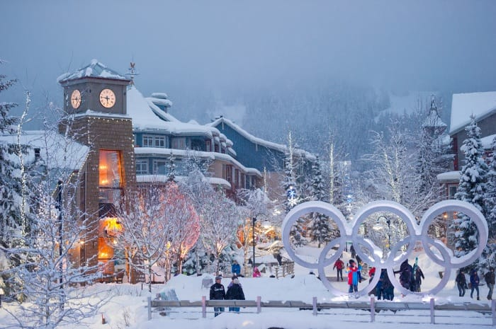 Winter wonderland in Whistler Village on February 18th