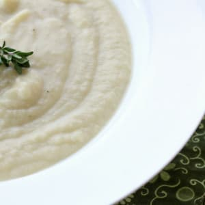 Cream of Jerusalem Artichoke, Leek and Potato Soup