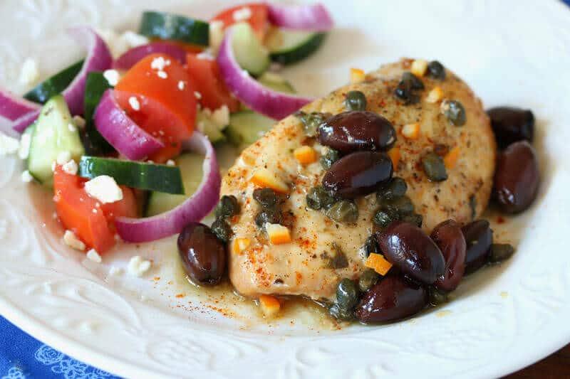 crock pot slow cooker greek chicken olives preserved lemons capers easy fast