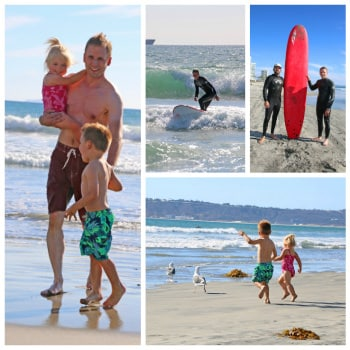 coronado beach surfing family vacation san diego california
