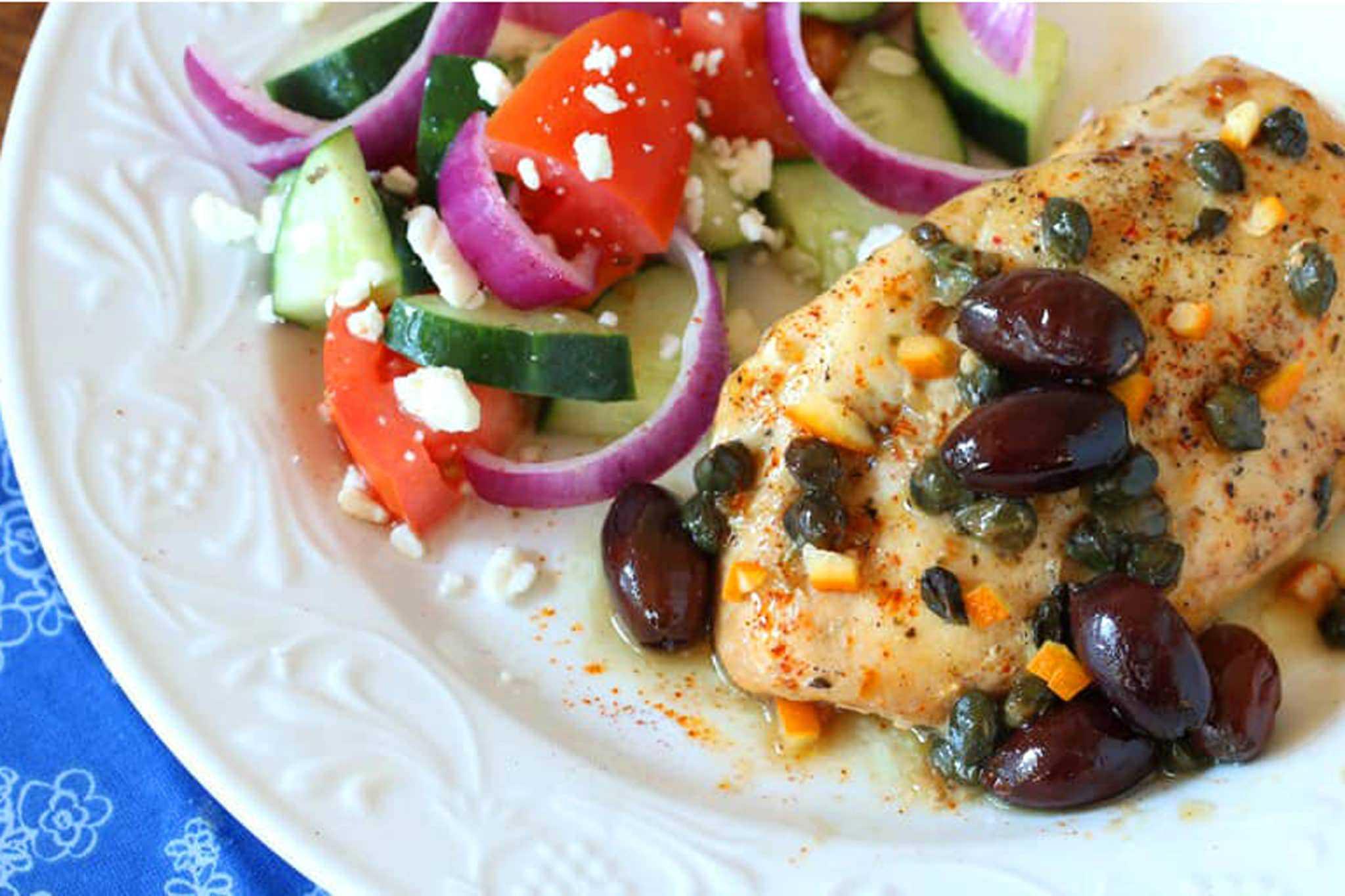 greek chicken recipe slow cooker crock pot easy