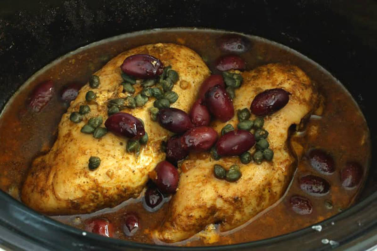 chicken olives capers slow cooker