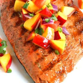 grilled salmon peach salsa recipe jalapeno tomato onion cilantro lime