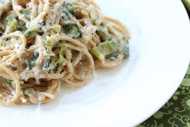 spaghetti leek alfredo sauce recipe