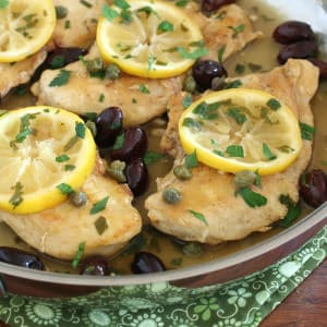 greek lemon chicken easy fast olives capers