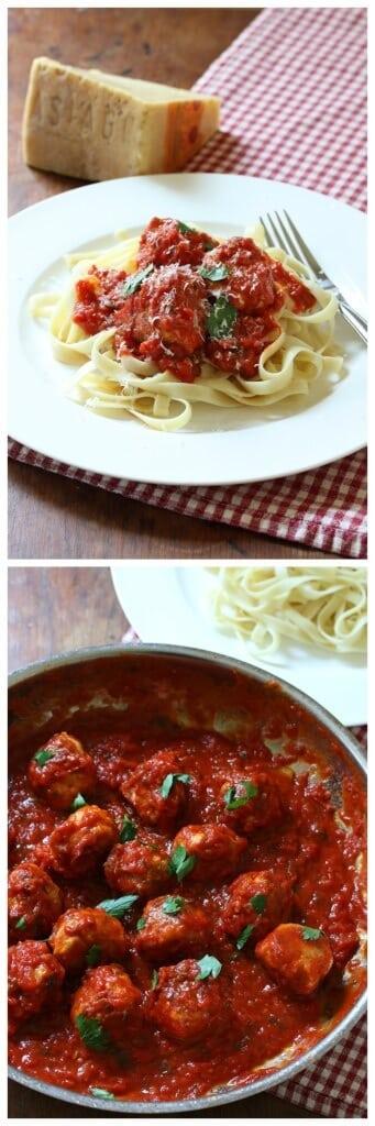 best italian chicken meatballs recipe tomato marinara sauce