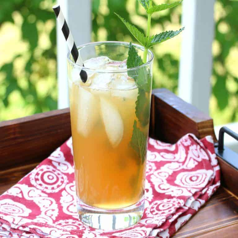 apple peppermint iced tea recipe healthy honey