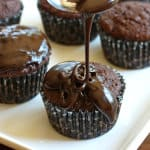 Mega Healthy Triple Chocolate Cupcakes
