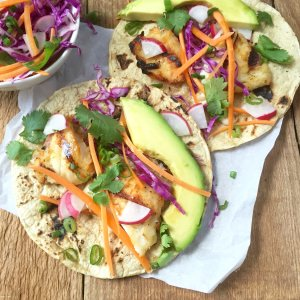 asian style grilled fish tacos recipe slaw