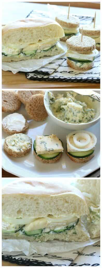 french connection brie sandwich garlic cucumbers vegetarian recipe