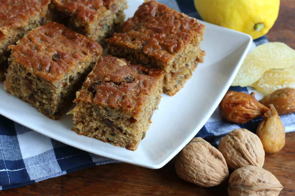 Whole Grain Cake Millet Recipe Nuts Walnuts Figs Cand Ginger Spelt Lemon