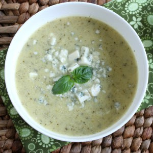 Cream of Zucchini Soup with Gorgonzola
