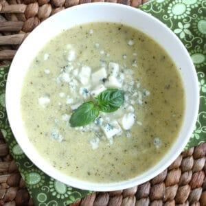 zucchini soup recipe cream creamy blue cheese gorgonzola