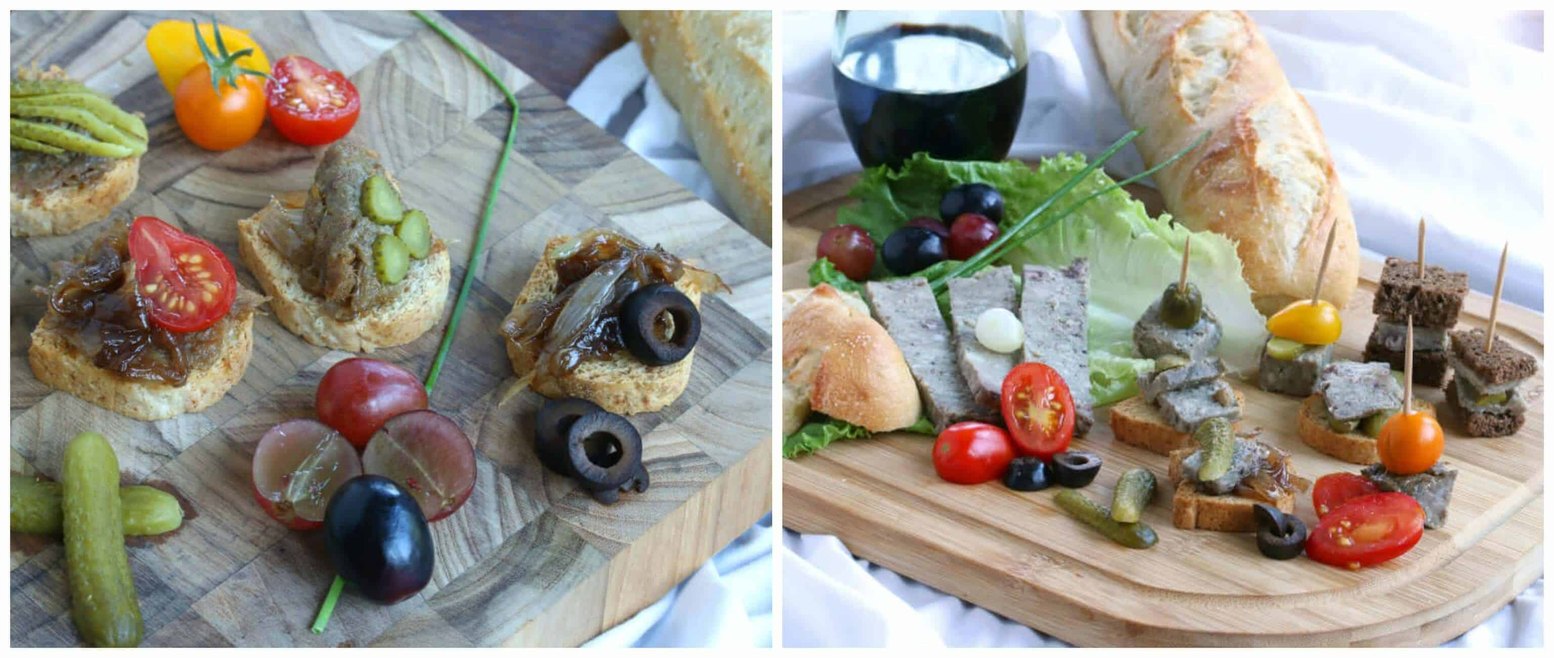 french entertaining country style with rillette and pate